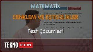 9. Sınıf MATEMATİK - Test Çözümleri