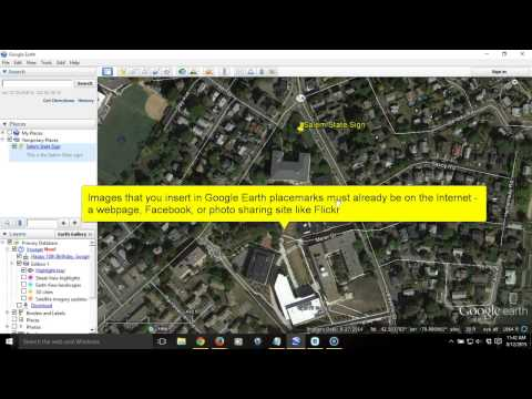 How to Add a Placemark with Text and Images in Google Earth