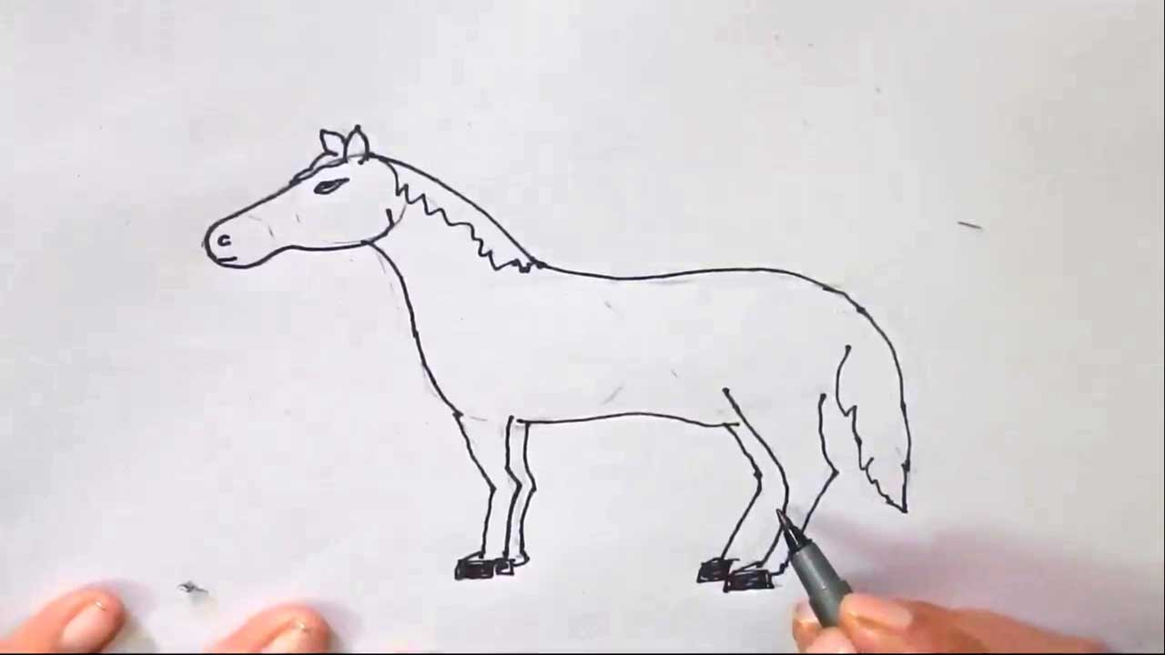 How To Draw A Horse Easy Step By Step For Kids