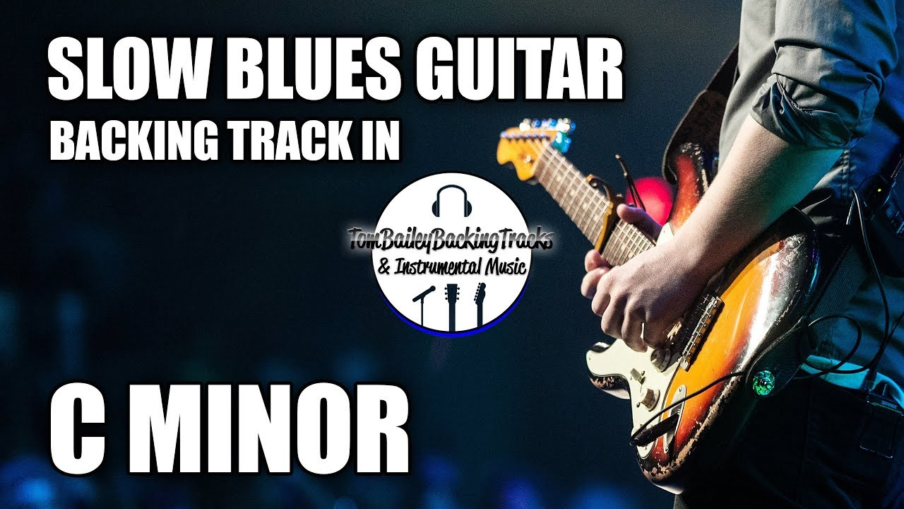 Slow Blues Guitar Backing Track In Cm