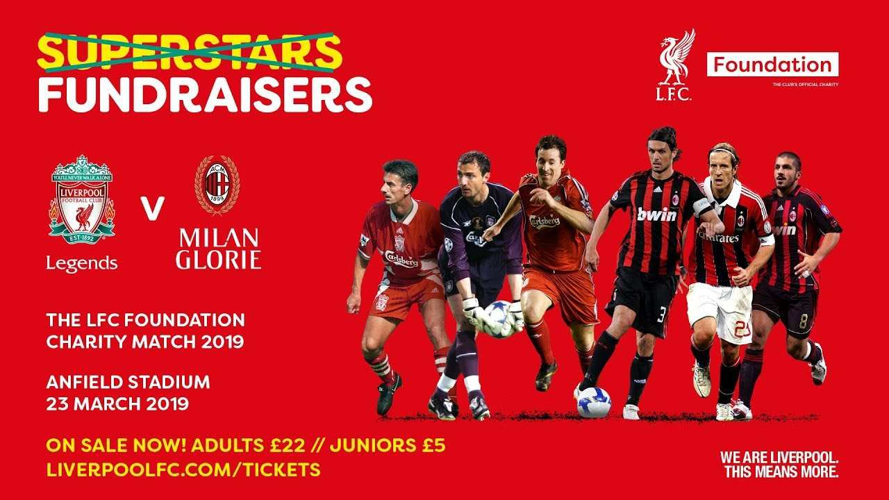 Lfc Foundation Legends Charity Match 2019 Reveal Youtube