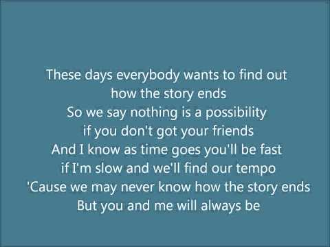 Friends Hedley Lyrics