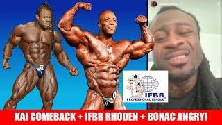 IFBB Responds To Rhoden + Kai Greene Comeback + Bonac VS Neil Hill