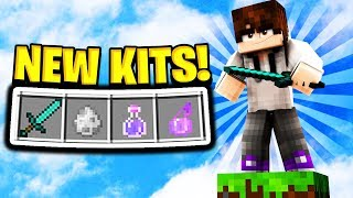 WINNING WITH EVERY NEW KIT! (Minecraft Skywars)