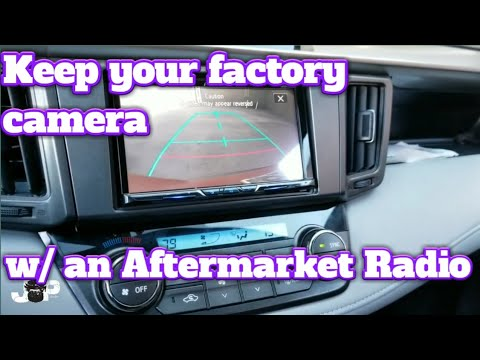For 2012-2015 Toyota Factory Backup Camera Retain T-Harness To Aftermarket Radio