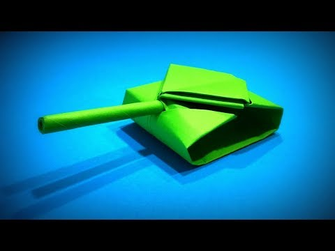 Origami Tank | How to Make a Paper Tank of the US Army DIY | Easy Origami ART | Paper Crafts