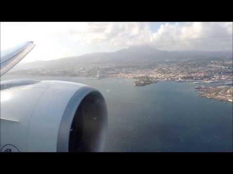Boeing 777-300ER Air France Landing in Martinique - FDF