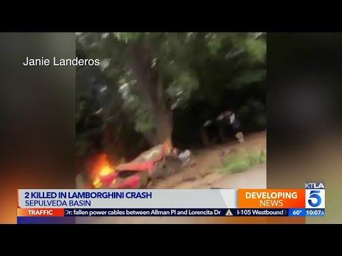 Fiery Lamborghini Crash Kills 2 in Sepulveda Basin