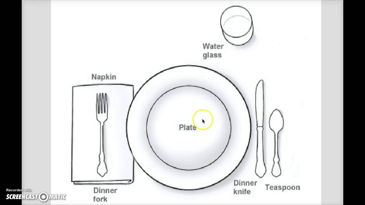 How To Set The Table( For Kids) - YouTube