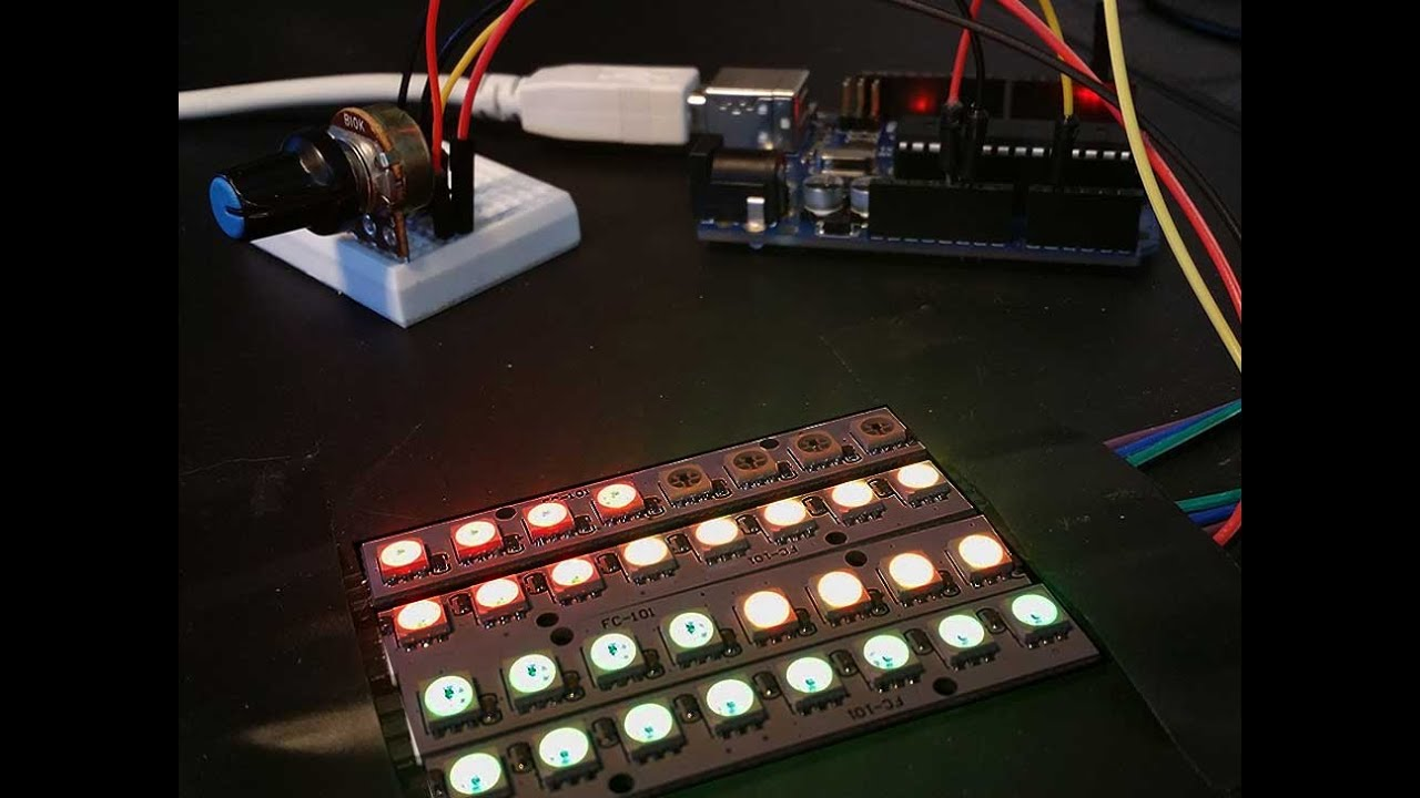 How to connect and control WS2812 RGB leds with an Arduino ...