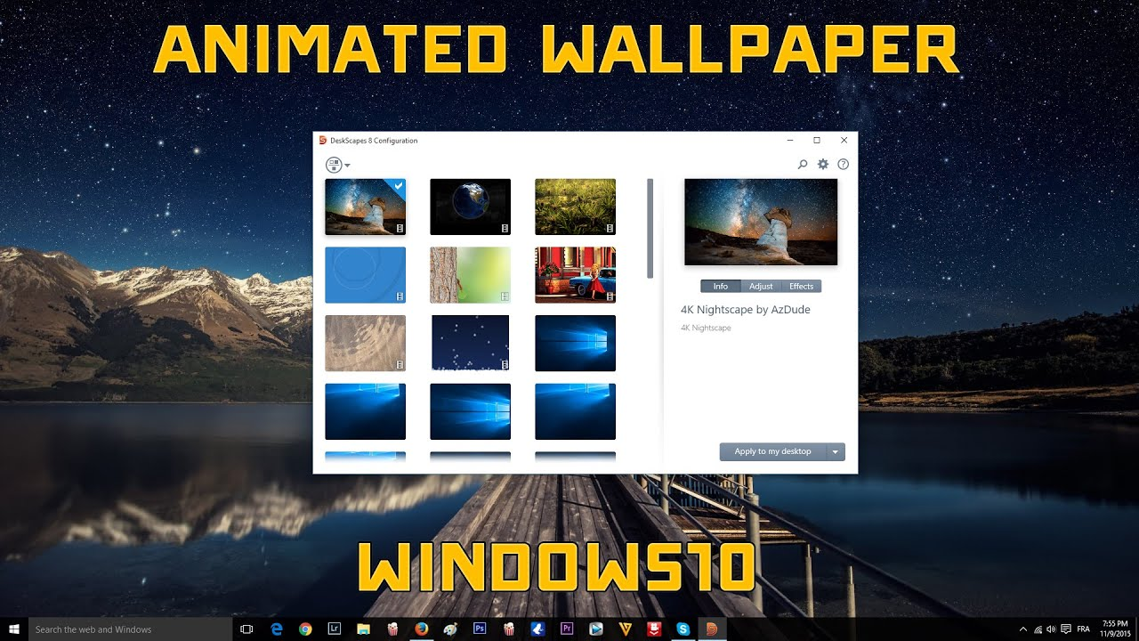 windows 10 animated wallpaper tutorial youtube