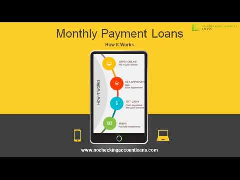 Loans For Bad Credit With Monthly Payments >> Online Monthly Payment Loans By You Near Lender Approved Bad Credit