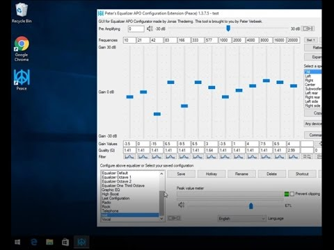 Windows 10 and 8 FREE Audio Equalizer to adjust treble and bass