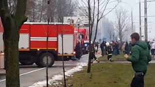 Пожар на проспекте Пушкина в Минске