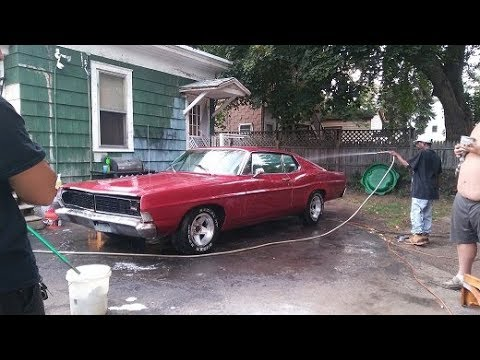 68 galaxie testing the new brake booster out