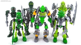 LEGO Bionicle: Old vs. New compared!  (representative samples, NOT ALL green products ever)