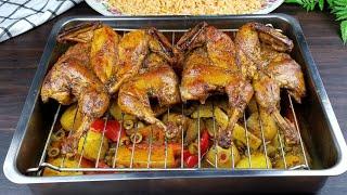 اروع طبخه للدجاج مع وصفة رز وطبق خضروات ( ٣ وصفات لوجبه متكاملة ) (Roasted Chicken recipe (full meal