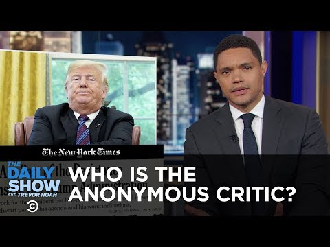 Trump Tries To Sniff Out His Anonymous Critic & China Pledges Billions To Africa | The Daily Show