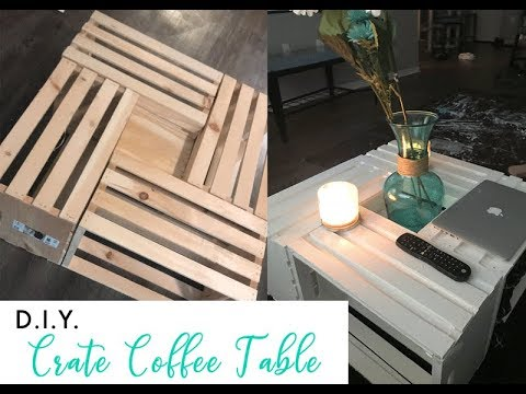 D.I.Y. CRATE COFFEE TABLE FOR $70🤗👏🏾🙌🏾