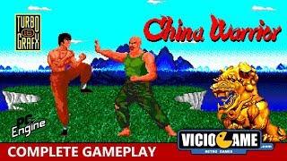 🎮 China Warrior (PC Engine) Complete Gameplay