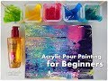 BEGINNERS Acrylic Pour Painting DIY ♡ Make Cells with Swipe Technique ♡ Maremi's Small Art ♡ Mp3