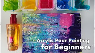 BEGINNERS Acrylic Pour Painting DIY ♡ Make Cells with Swipe Technique ♡ Maremi