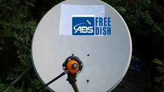 Abs Free Dish Installing Ku Band 02ft Dish