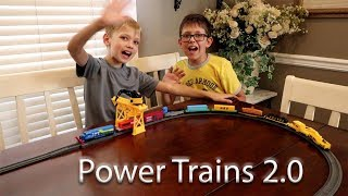 Power Trains 2.0 - Unboxing - Play - Review - and Crashes