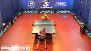 Настольный теннис матч 20112018 7 Дементьева Елизавета Быкова Ксения за 1-2 место