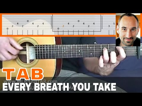 "Guitar guitar cover with tabs : Guitar Cover / Tab ""Every Breath you Take"" by MLR-Guitar - YouTube"