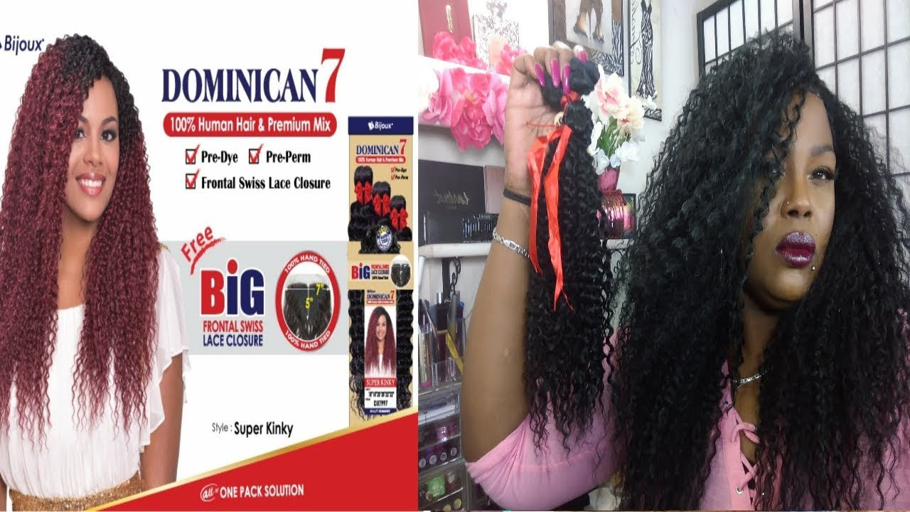 Beauty Store Hair /Bijoux Dominican 7 One Pack Hair/Swiss Lace Frontal Quick Weave