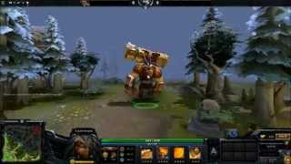 Dota 2 Item - Geniune Golden Gravelmaw ( Earthshaker Weapon).