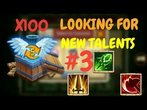 Opening Up 100 Level 5 Talent Chests L Castle Clash