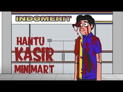 Hantu Kasir Minimart - Kartun Hantu Lucu - Kartun Horor