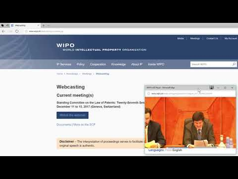 WIPO SCP 27 (Unofficial)  Summary by the Chair. SCP27  DECEMBER 15, 2017