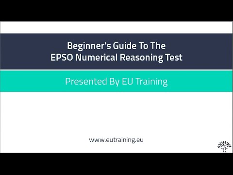 Beginner's Guide To The EPSO Numerical Reasoning Test