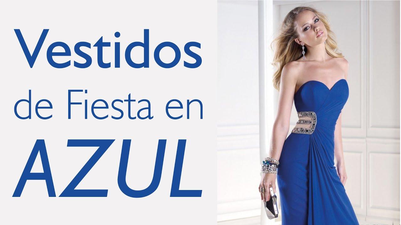 5ecbee219 Vestidos en Azul (Eléctrico