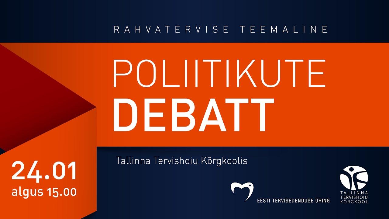 edc316531a3 OTSE: Poliitikud debateerivad rahvatervise teemal - Uudis.eu