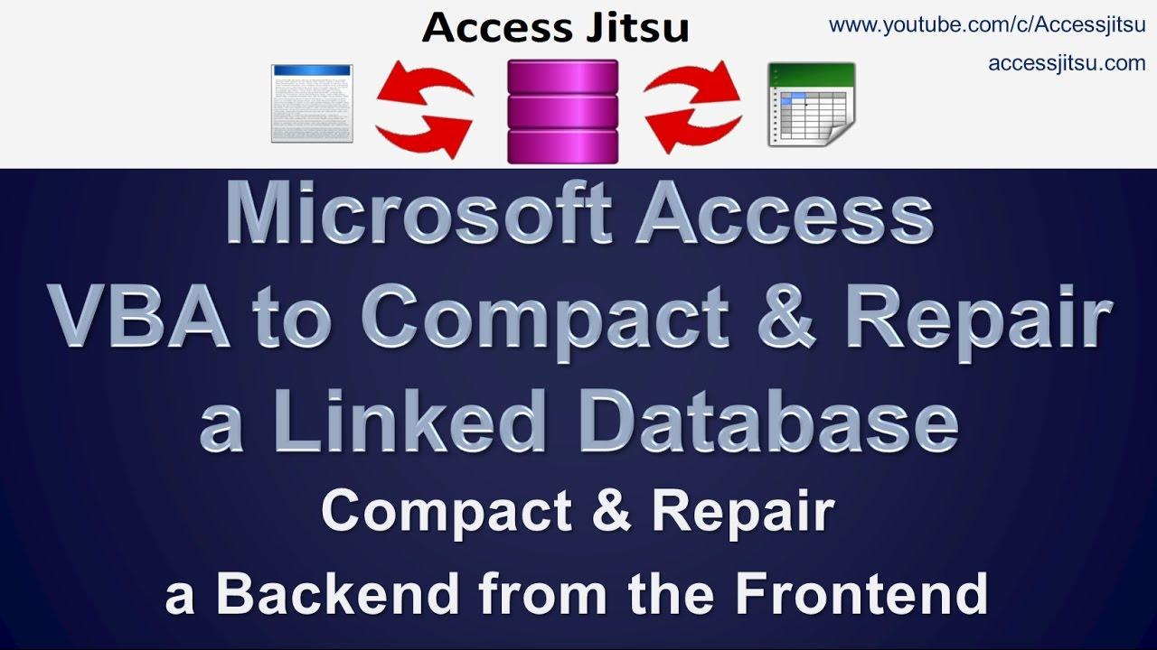 Split Databases – Access Jitsu