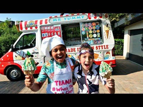 TIANA'S ICE CREAM TRUCK SWIMMING POOL PARTY!!