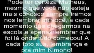 Baixar [LUTO] Matheus Wagner - Homenagem de Taynná Roberta e Escola Jason Brandão (f) :'(