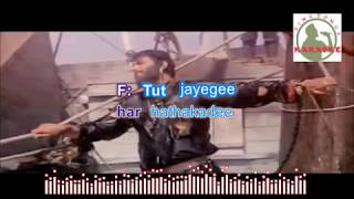ZINDAGI KI NA TOOTE LADII hindi karaoke for Male singers with lyrics