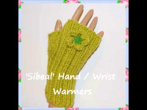 Sibeal Vintage Style Hand Wrist Warmers Teen Ladies Chunky Knitting