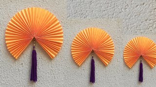 DIY Paper Flower  and Woollen Wall Hanging // Wall Hanging  Idea //  Easy Wall Decor Idea