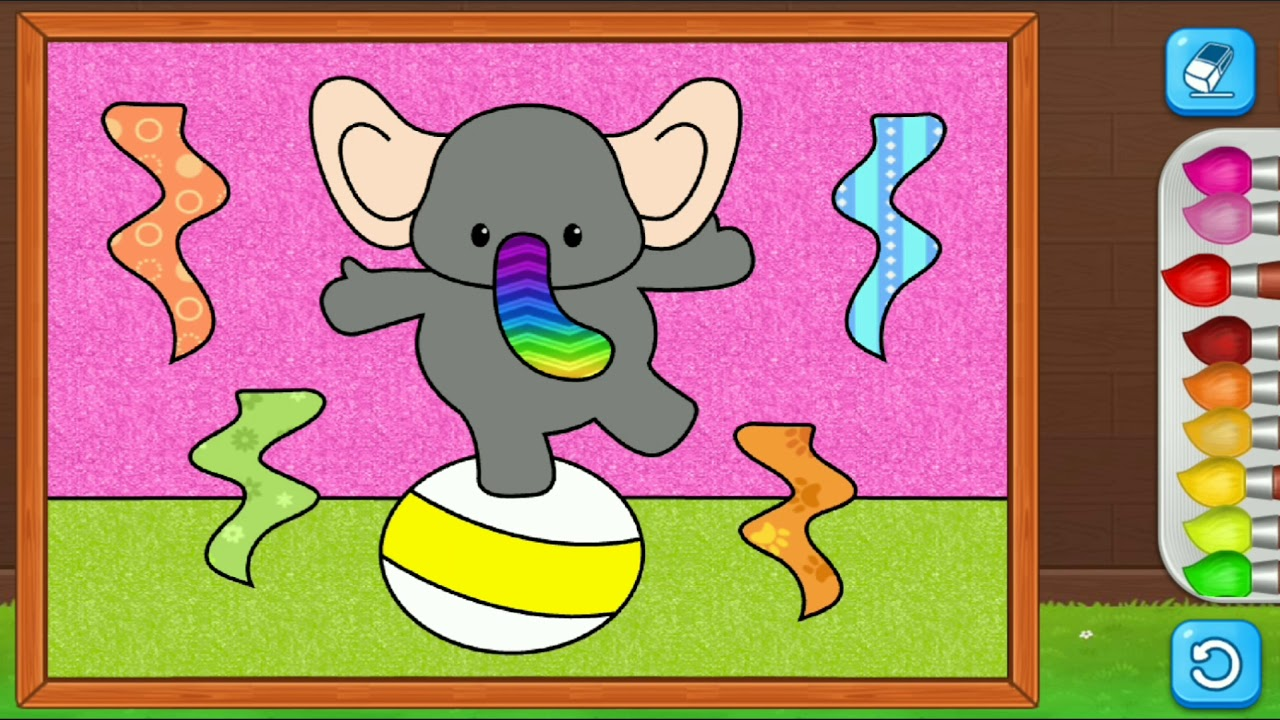 Elephant | Coloring Games for Kids - YouTube