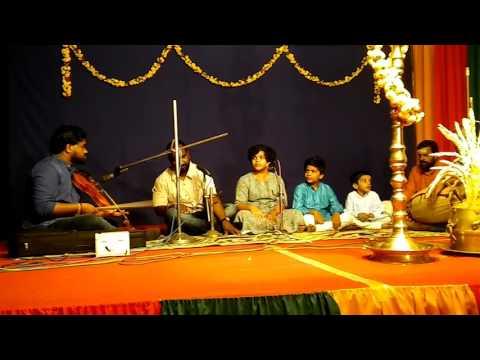 gajananayutham ganeshwaram,  shri saraswathi namo sthuthe songs  by Elizabeth, Jacob and John
