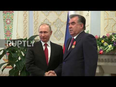 Tajikistan: Putin and Tajik President Rahmon tout trade ties in Dushanbe