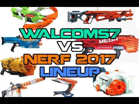 I talk about the NERF 2017 LINEUP for over 21 minutes.