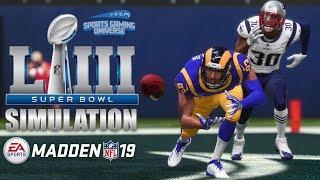 SUPER BOWL LIII - New England Patriots vs Los Angeles Rams   Madden 19 Full Game Simulation