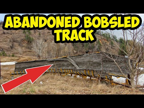 Found an old abandoned bobsled track near dam. Exploring old olympic bobsleigh track